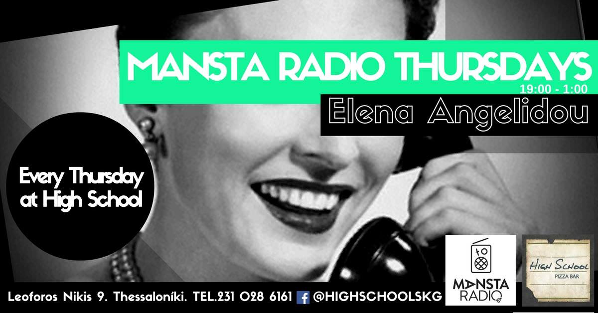 MANSTA RADIO THURSDAYS AT HIGH SCHOOL PIZZA BAR